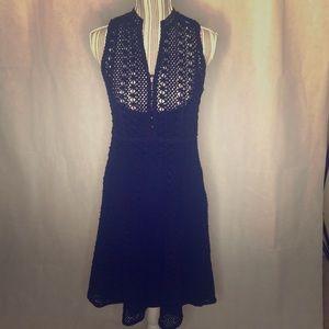 Meadow Rue Black crochet dress sz 4